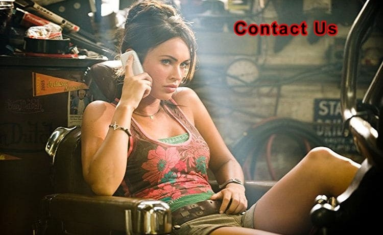 sexy lady on the phone - contacting us is easy